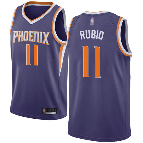 Suns #11 Ricky Rubio Purple Basketball Swingman Icon Edition Jersey