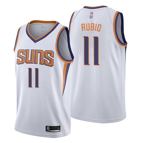 Suns #11 Ricky Rubio White Basketball Swingman Association Edition Jersey