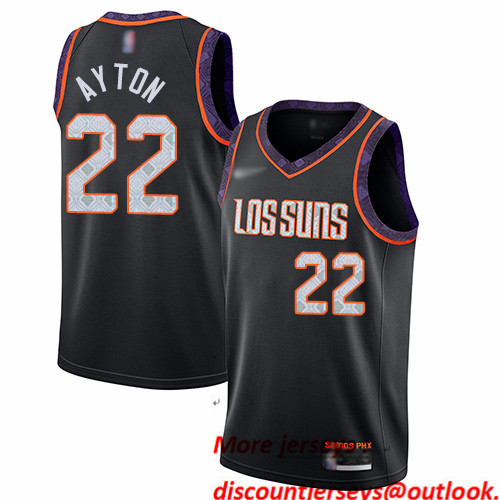 Suns #22 Deandre Ayton Black Basketball Swingman City Edition 2019 20 Jersey