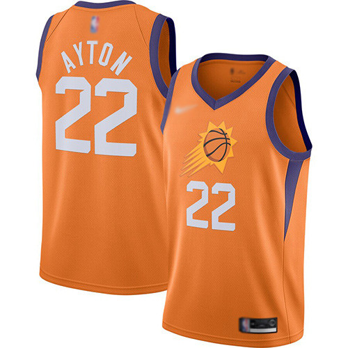 Suns #22 Deandre Ayton Orange Basketball Swingman Statement Edition 2019 2020 Jersey