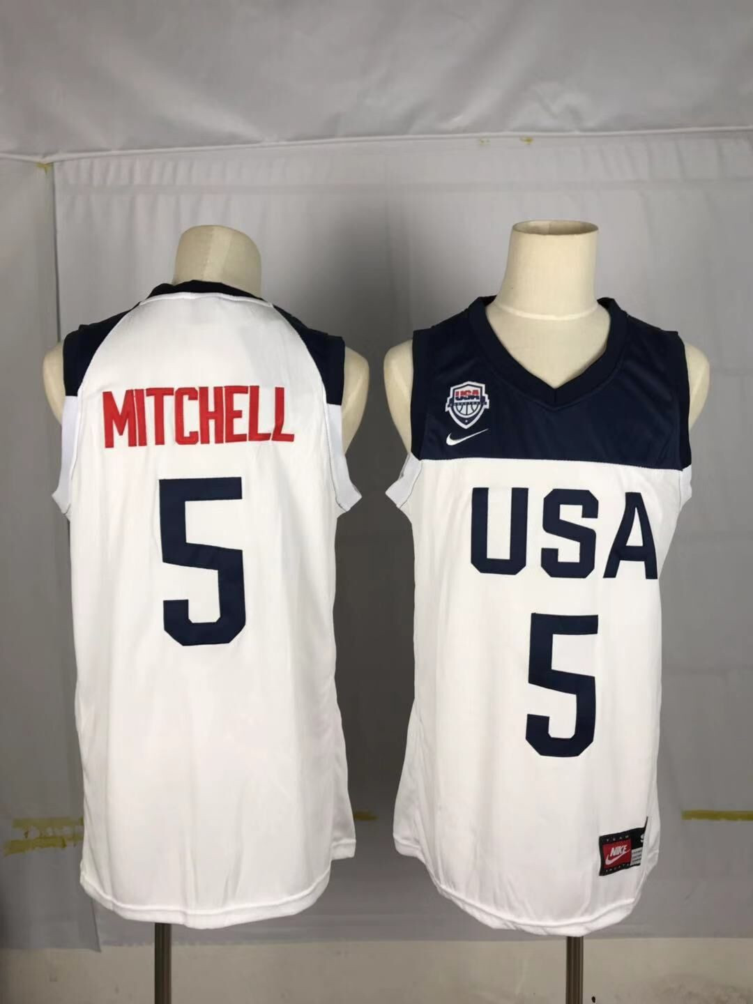 Team USA 5 Mitchell White 2016 Olympics Basketball Swingman Jersey