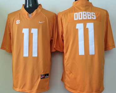 Tennessee Volunteers 11 Joshua Dobbs Orange College Football Jersey