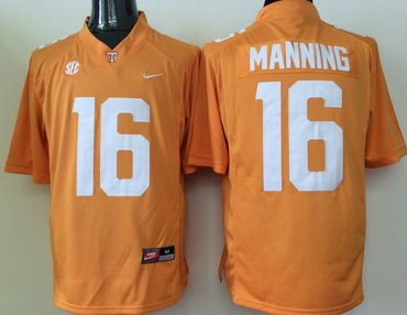 Tennessee Volunteers 16 Peyton Manning Orange College Football Jersey