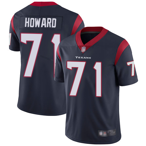 Texans #71 Tytus Howard Navy Blue Team Color Men's Stitched Football Vapor Untouchable Limited Jersey