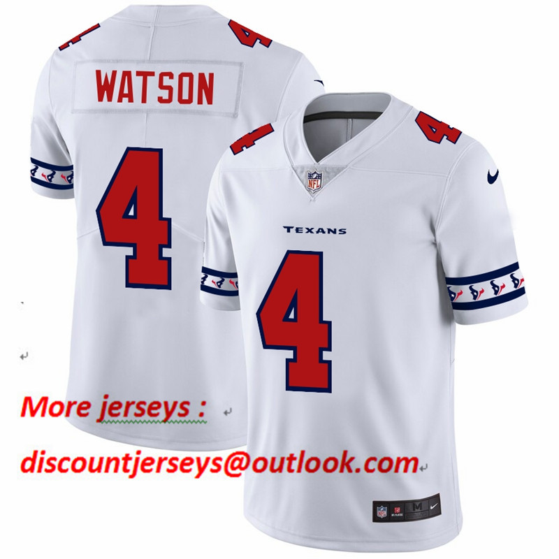Texans 4 Deshaun Watson White 2019 New Vapor Untouchable Limited Jersey