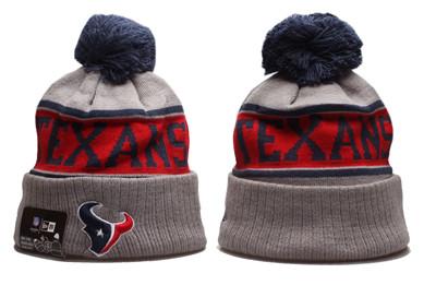 Texans Team Logo Gray Pom Knit Hat YP
