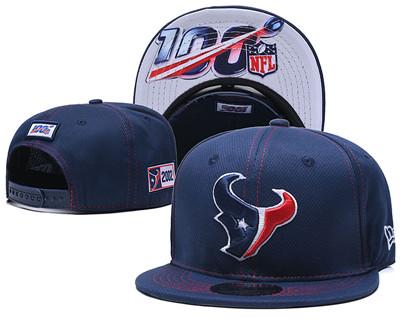 Texans Team Logo Navy 100th Seanson Adjustable Hat YD