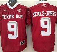 Texas A&M Aggies #9 Ricky Seals-Jones Red New SEC Patch Stitched NCAA Jersey