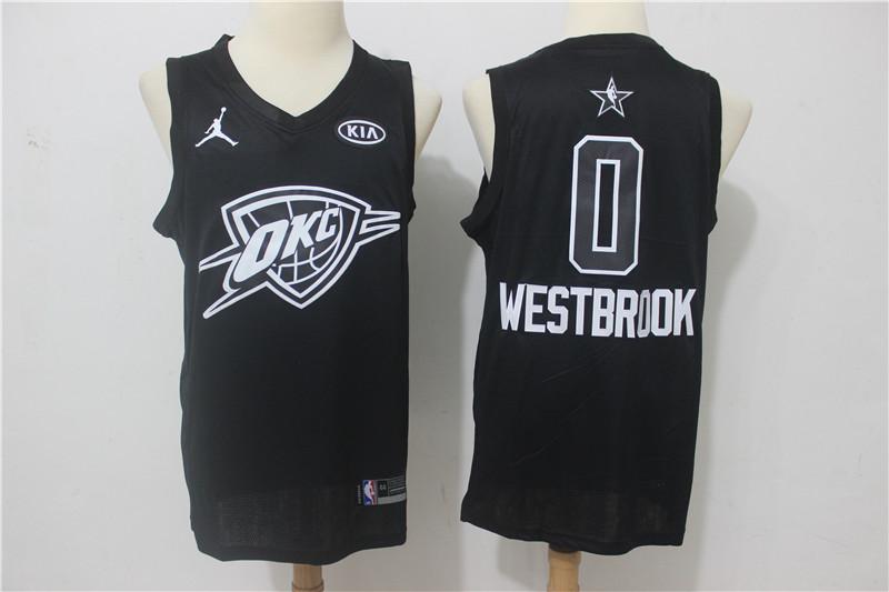 new products 609cf 43986 Nike Thunder #0 Russell Westbrook Gray NBA Swingman City ...