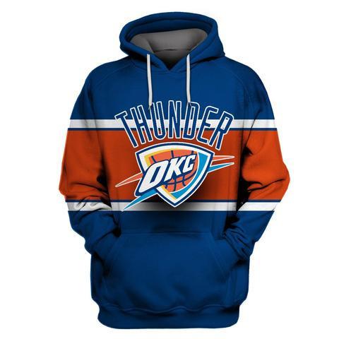 Thunder Blue All Stitched Hooded Sweatshirt