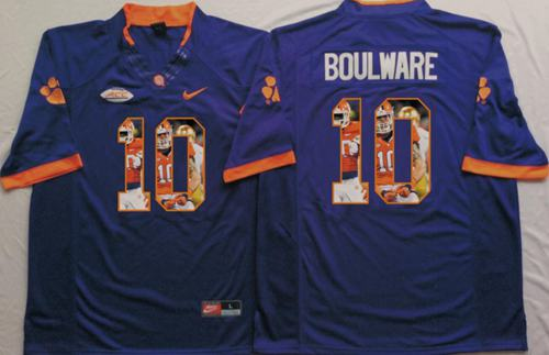 Tigers #10 Ben Boulware Purple Player Fashion Stitched NCAA Jersey