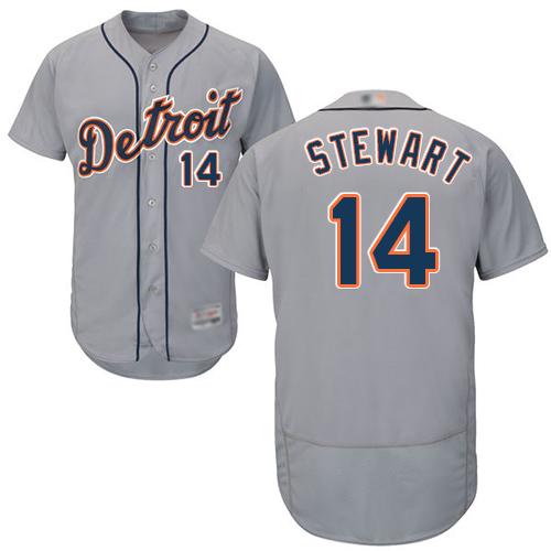 Tigers #14 Christin Stewart Grey Flexbase Authentic Collection Stitched Baseball Jersey