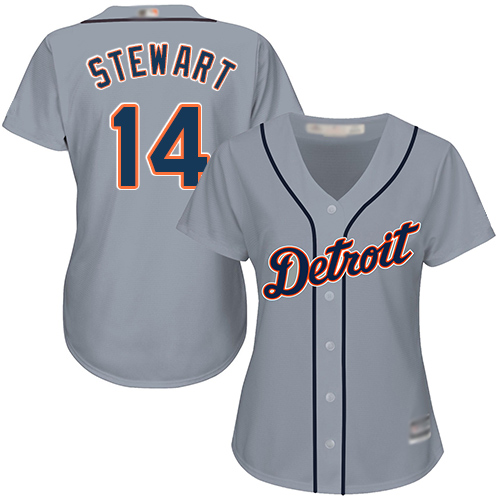 Tigers #14 Christin Stewart Grey Road Women's Stitched Baseball Jersey