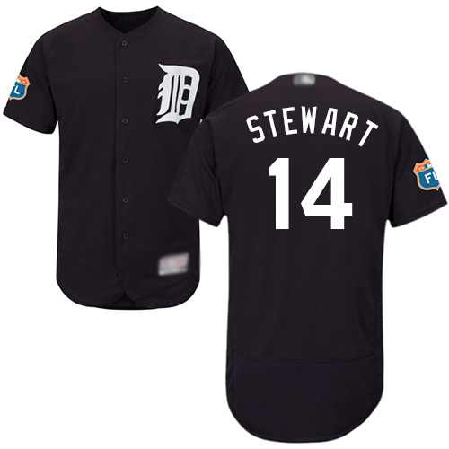 Tigers #14 Christin Stewart Navy Blue Flexbase Authentic Collection Stitched Baseball Jersey