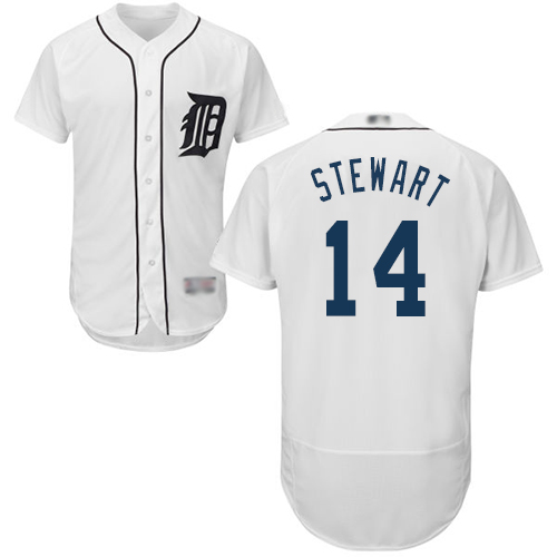 Tigers #14 Christin Stewart White Flexbase Authentic Collection Stitched Baseball Jersey