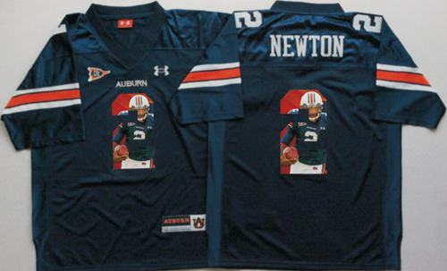 Tigers #2 Cam Newton Blue Player Fashion Stitched NCAA Jersey