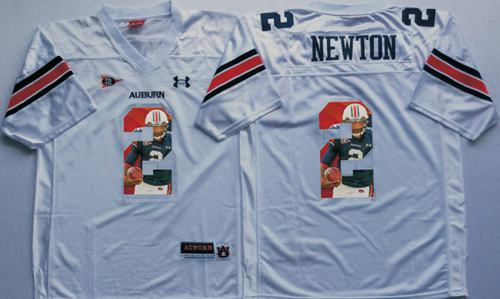 Tigers #2 Cam Newton White Player Fashion Stitched NCAA Jersey