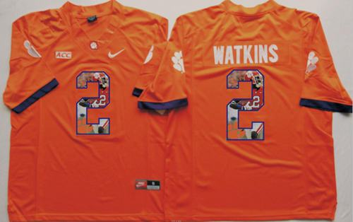 Tigers #2 Sammy Watkins Orange Player Fashion Stitched NCAA Jersey