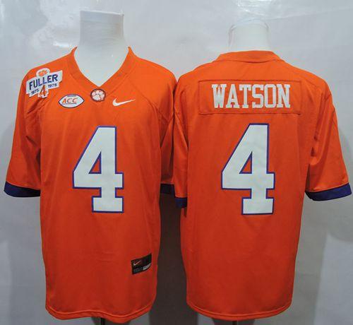Tigers #4 Deshaun Watson Orange 1975-1978 Fuller Stitched NCAA Jersey