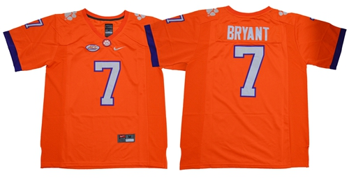 Tigers #7 Austin Bryant Orange Limited Stitched NCAA Jersey