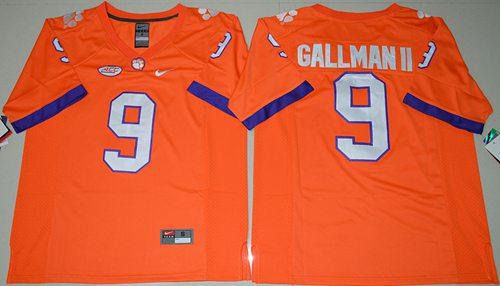 Tigers #9 Wayne Gallman II Orange Limited Stitched NCAA Jersey