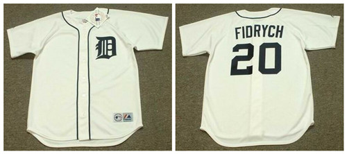 Tigers 20 Mark Fidrych White 1976'S Throwback Cool Base Jersey