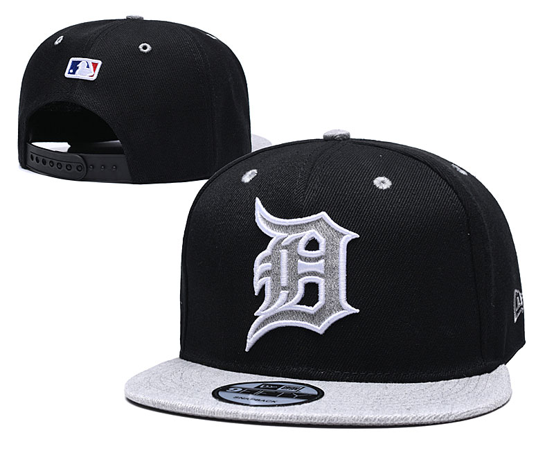 Tigers Team Logo Black Gray Adjustable Hat TX