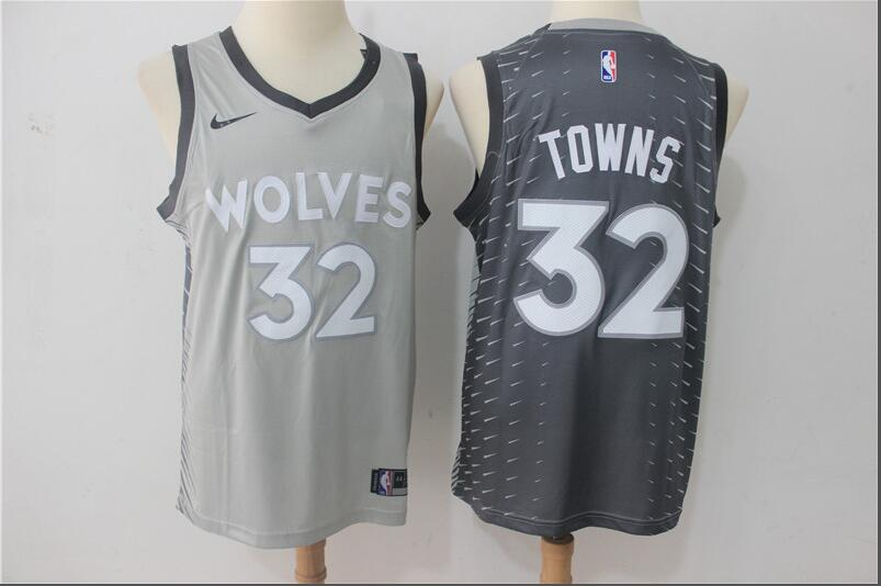c3982a25 Loading Zoom, please wait Timberwolves 32 Karl-Anthony Towns Gray City  Edition Nike Swingman Jersey