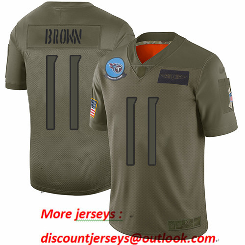 Titans #11 A.J. Brown Camo Men's Stitched Football Limited 2019 Salute To Service Jersey