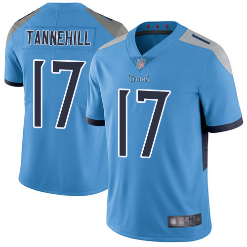 Titans #17 Ryan Tannehil Light Blue Alternate Youth Stitched Football Vapor Untouchable Limited Jersey