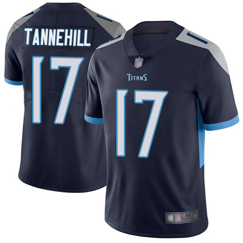 Titans #17 Ryan Tannehil Navy Blue Team Color Youth Stitched Football Vapor Untouchable Limited Jersey