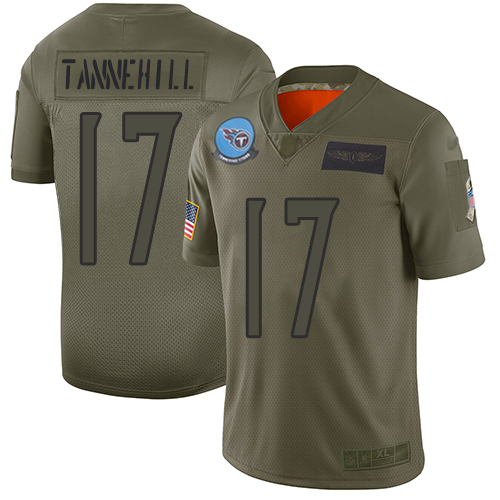 Titans #17 Ryan Tannehill Camo Men's Stitched Football Limited 2019 Salute To Service Jersey