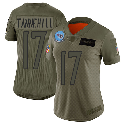 Titans #17 Ryan Tannehill Camo Women's Stitched Football Limited 2019 Salute to Service Jersey