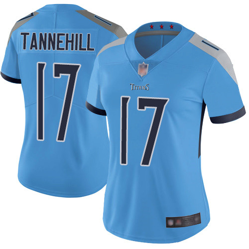Titans #17 Ryan Tannehill Light Blue Alternate Women's Stitched Football Vapor Untouchable Limited Jersey