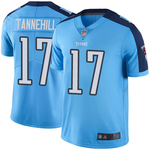Titans #17 Ryan Tannehill Light Blue Youth Stitched Football Limited Rush Jersey