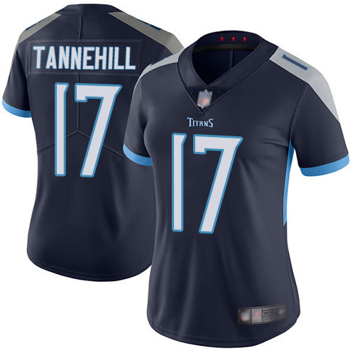 Titans #17 Ryan Tannehill Navy Blue Team Color Women's Stitched Football Vapor Untouchable Limited Jersey