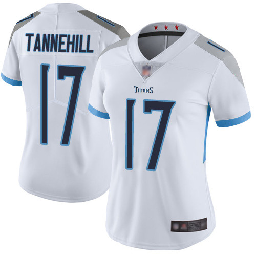 Titans #17 Ryan Tannehill White Women's Stitched Football Vapor Untouchable Limited Jersey