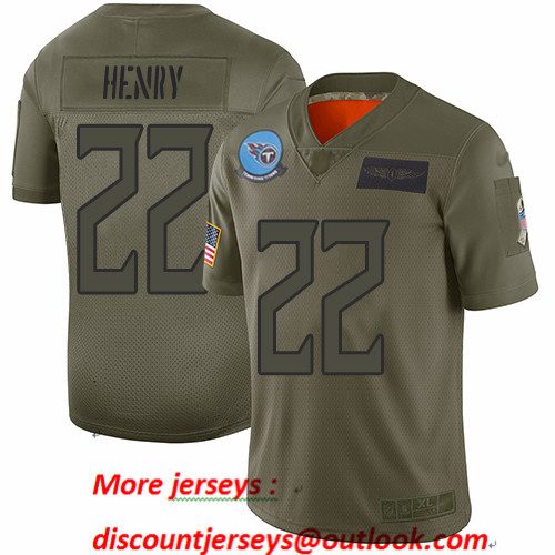 Titans #22 Derrick Henry Camo Men's Stitched Football Limited 2019 Salute To Service Jersey