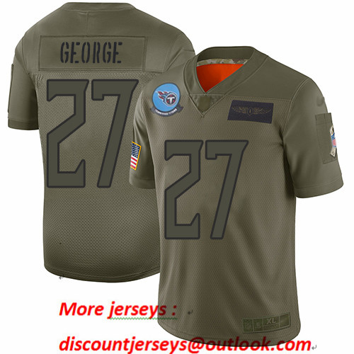 Titans #27 Eddie George Camo Men's Stitched Football Limited 2019 Salute To Service Jersey