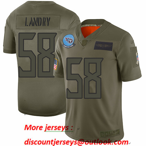 Titans #58 Harold Landry Camo Men's Stitched Football Limited 2019 Salute To Service Jersey