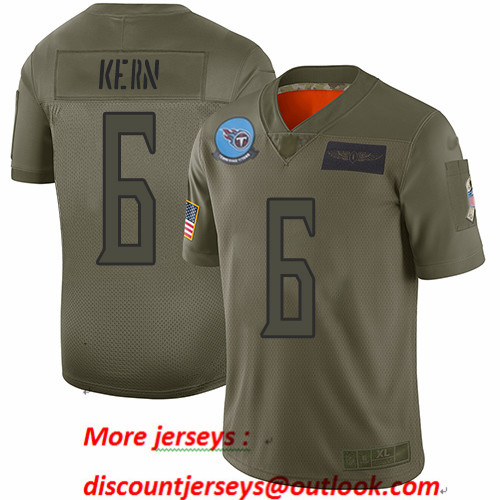 Titans #6 Brett Kern Camo Men's Stitched Football Limited 2019 Salute To Service Jersey