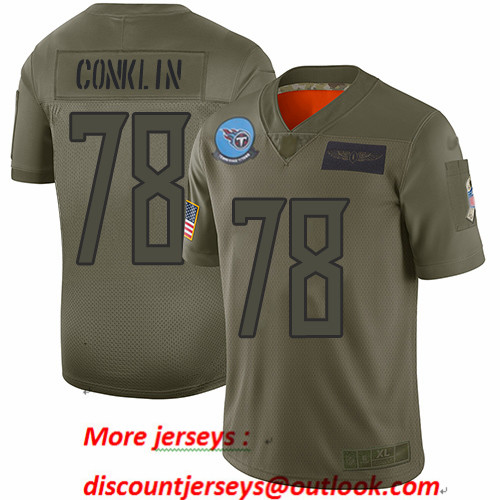 Titans #78 Jack Conklin Camo Men's Stitched Football Limited 2019 Salute To Service Jersey