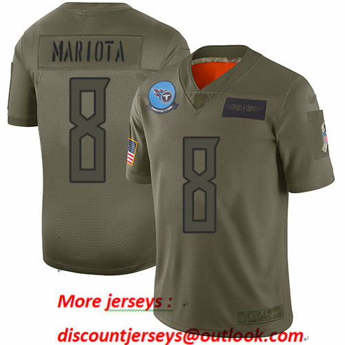 Titans #8 Marcus Mariota Camo Men's Stitched Football Limited 2019 Salute To Service Jersey
