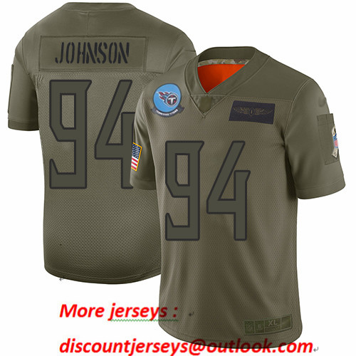 Titans #94 Austin Johnson Camo Men's Stitched Football Limited 2019 Salute To Service Jersey