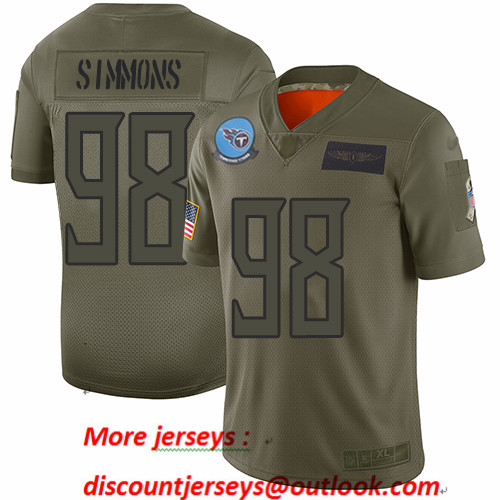 Titans #98 Jeffery Simmons Camo Men's Stitched Football Limited 2019 Salute To Service Jersey
