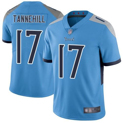Titans 17 Ryan Tannehill Light Blue Vapor Untouchable Limited Jersey