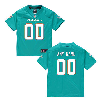 Toddlers Nike Miami Dolphins Infant Customized Game Team Color Jersey