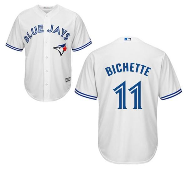 Toronto Blue Jays #11 Bo Bichette White Cool base Jersey