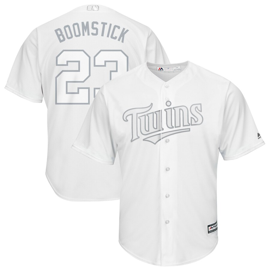Twins 23 Nelson Cruz Boomstick White 2019 Players' Weekend Player Jersey