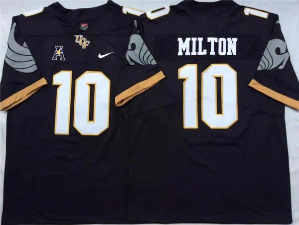 UCF Knights 10 Mckenzie Milton Black College Football Jersey